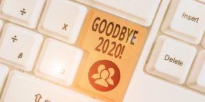 Computer keyboard with Goodbye 2020 key