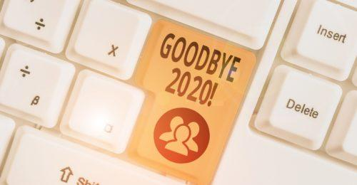 Computer keyboard with Goodbye 2020 key
