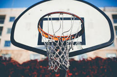 athletic scholarship - basketball hoop