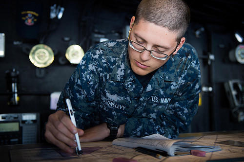 Solider Writing - ROTC Scholarships