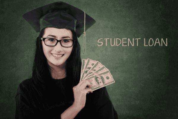 Student Loan Written on a Chalkboard