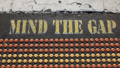 """Mind the Gap"" Sign -- Gap Year"