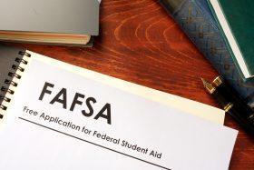 FASFA paperwork lying on a desk.