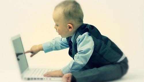 Baby at Computer - Career