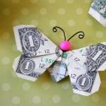 Personal Financing - Butterfly Folded into Money