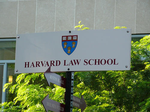 Sign of Harvard Law School