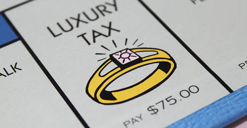 Luxury Tax Space on a Monopoly Board