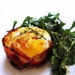 Bacon Wrapped Eggs & Arugula