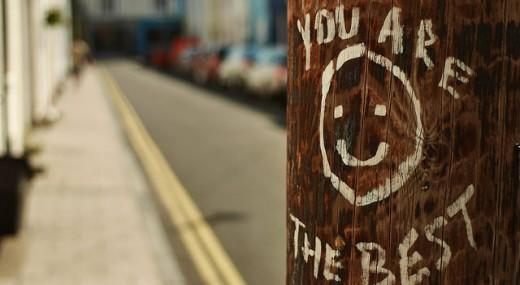 """You are the best"" written on a pole."