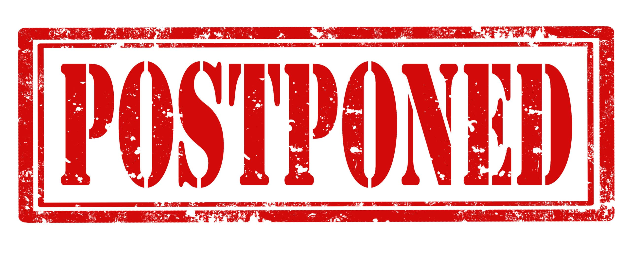 Grunge rubber stamp with text Postponed,vector illustration