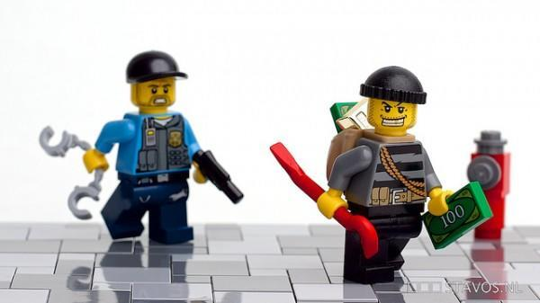 Lego Figures of a Cop and Robber