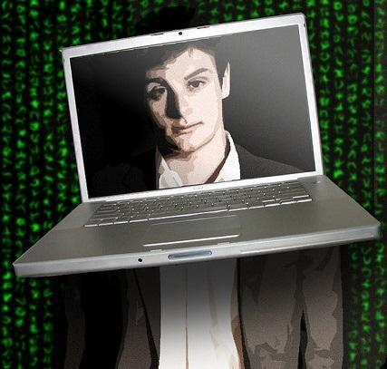 Laptop Picturing a Man's Face