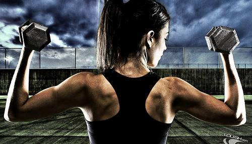 Girl Lifting Weights - WCP Workshop