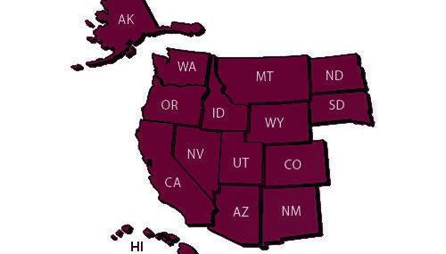 Western Undergraduate Exchange - Map of States