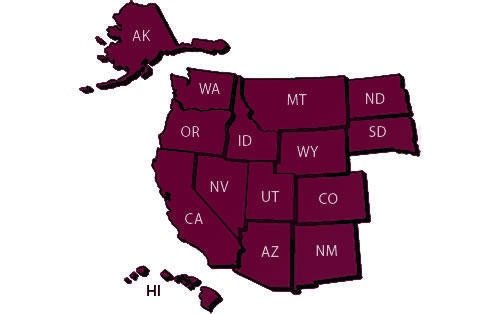 Western Undergraduate Exchange - Map of States
