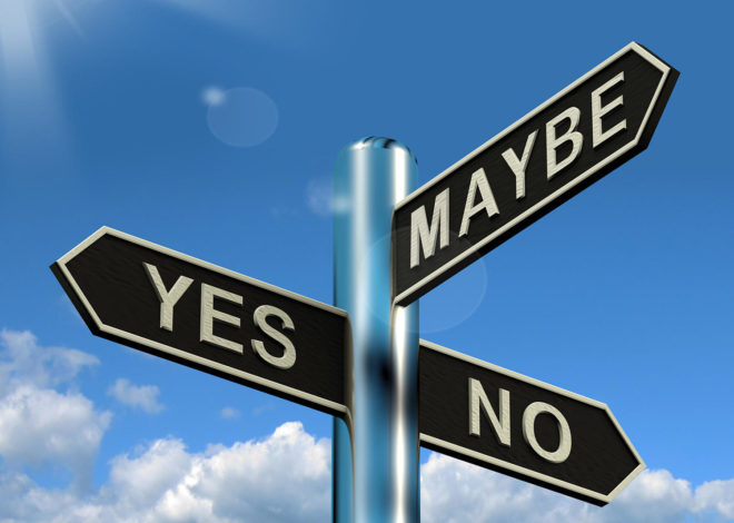 yes no maybe sign